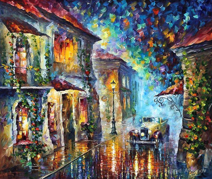 art: Paintings On Canvas, Knifes Oil, Oil Paintings, Palettes Knifes, Greek Night, Afremov Art, Oils, Leonidafremov With Deviantart, Leonid Afremov