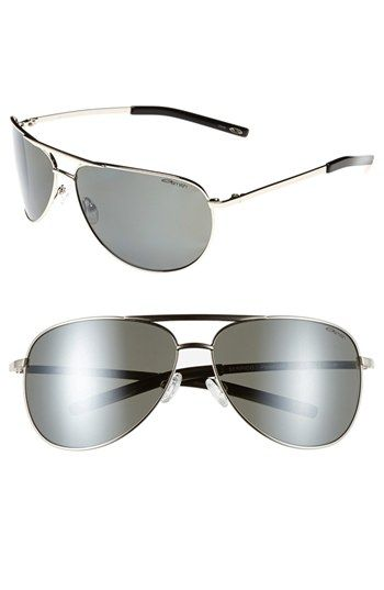 Smith Optics 'Serpico' 66mm Polarized Sunglasses...Silver Platinum ....Very Nice Look!