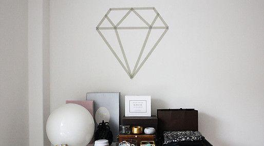 washi tape diamond.
