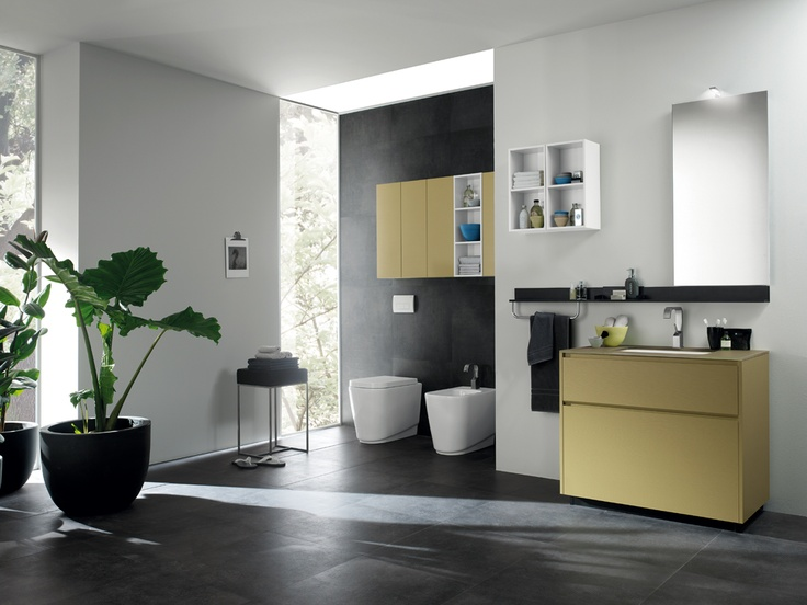 Rivo Collection by Scavolini #Bathrooms | Minimalist dimensions and #design enable these elements to be configured in any space, while ensuring a high level of personalisation |