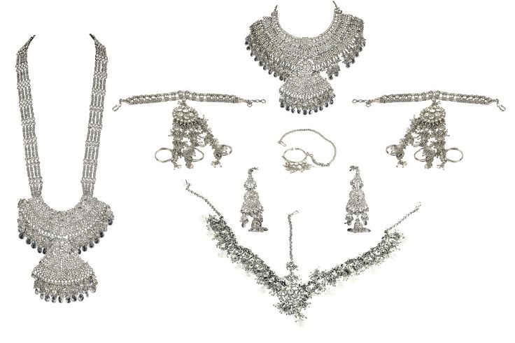 indian silver bridal jewelry sets - Google Search