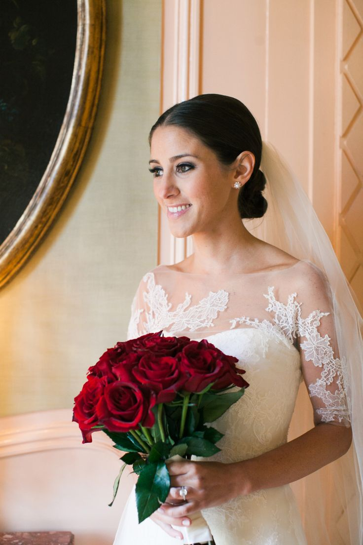 what a pretty lace detail! Vera Wang Esther Real Weddings