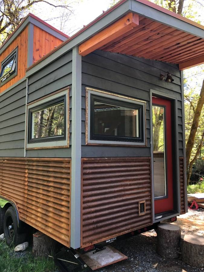 Exterior Framing 22 Long X 8 Wide X 13 Tall 220 Sq Ft 2 X 4 Doug Fir Framing 24 On Center 4 X 4 Rafters A Metal Roof Outdoor Decor Beams