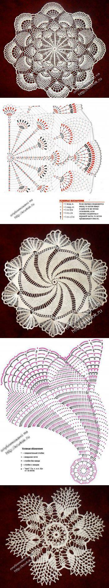 416 best tejidos images on Pinterest | Crochet edgings, Crochet ...