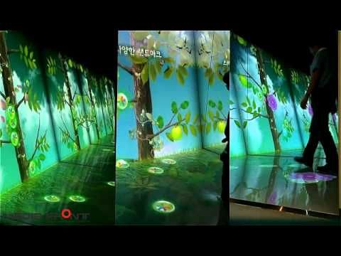 08 multi projection wall & floor interactive - YouTube