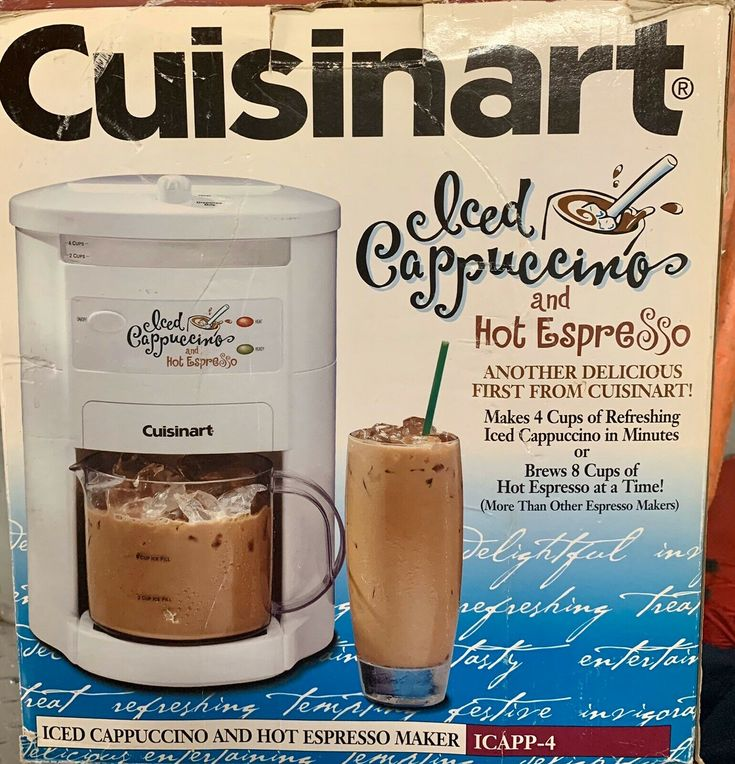 Cuisinart Espresso Iced Cappuccino Maker 4Cup Cold or 8