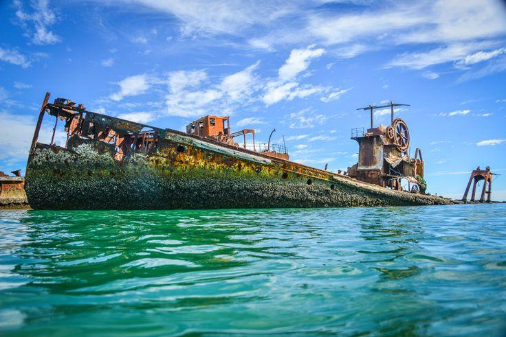 One of the 15 wrecks at Moreton Island, Australia (Artificial Reef)
