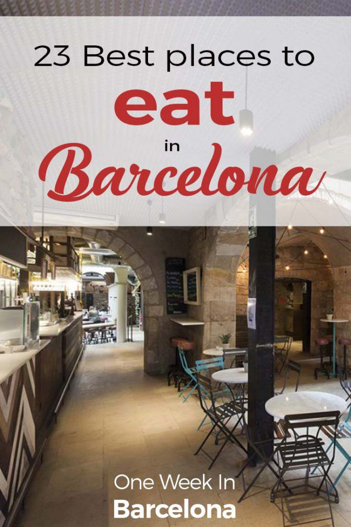 13 Best Restaurants Barcelona 2019 Handpicked Map