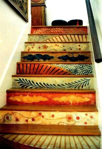 Hand painted stair risers - could do your favorite bible versus - anything really
