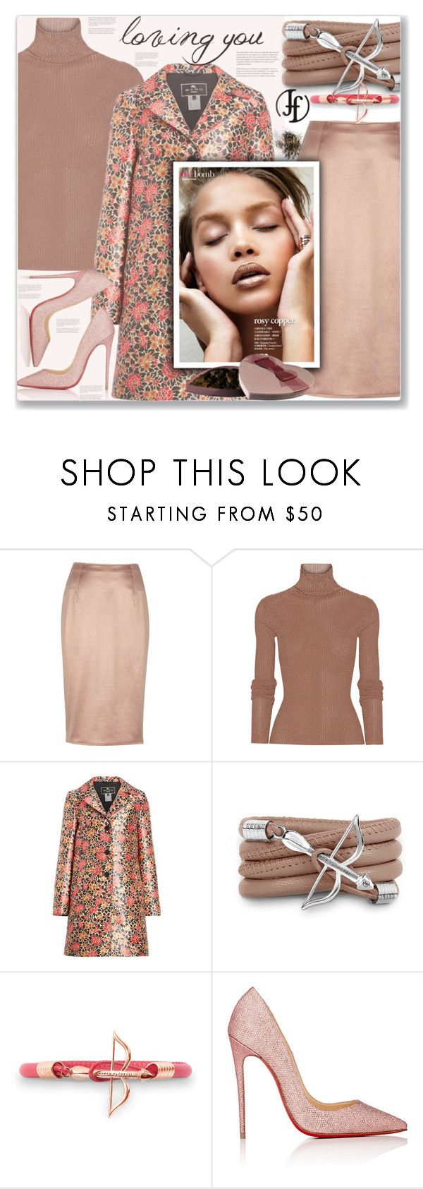 """Win $50 from Franco Florenz"" by sweta-gupta ❤ liked on Polyvore featuring River Island, TIBI, Etro, Monza, Novara, Christian Louboutin, Sanders, dreamy, loveisintheair and careforcoffee"