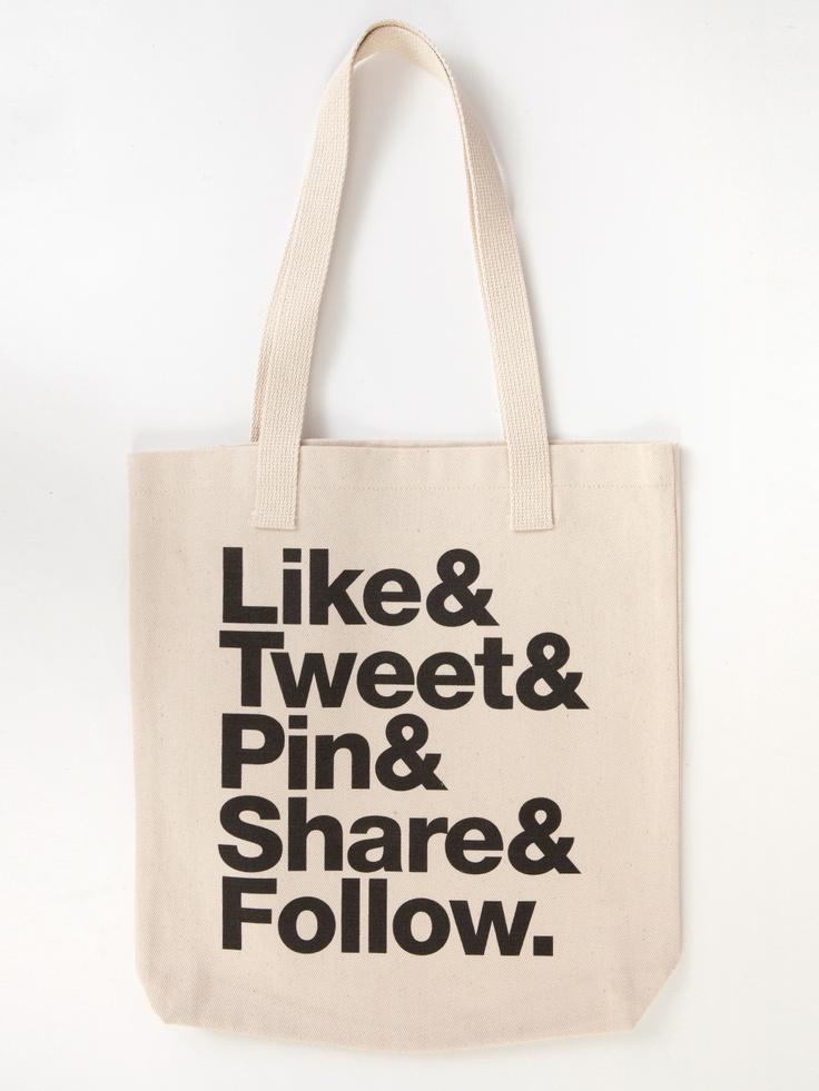 The Social Type #sac #cabas #totebag #baiseenville #toile #tissu #coton #lin
