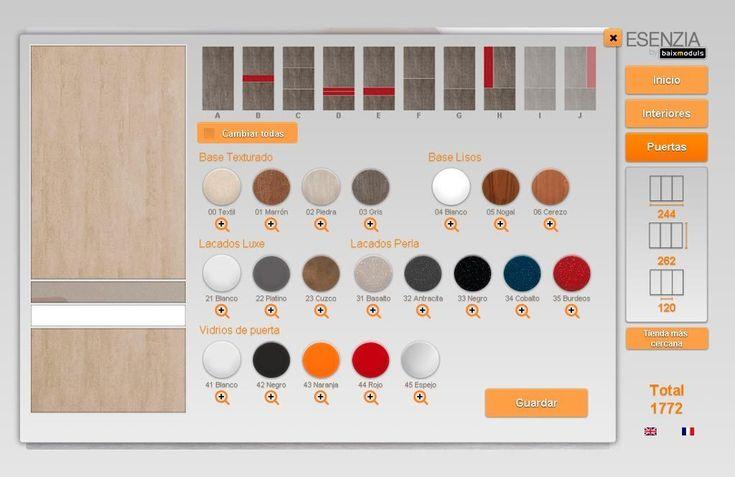 Mira lo fácil que es visualizar tu armario dos puertas correderas con sus colores y con los complementos interiores para que sea funcional en tu día a día
