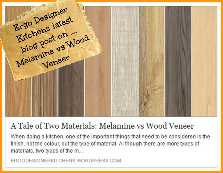 A tale of 2 materials - Al though there are more types of materials, two types of the most well-know and commonly used is melamine and wood veneer. Both materials certainly have a number of respective advantages and disadvantages.