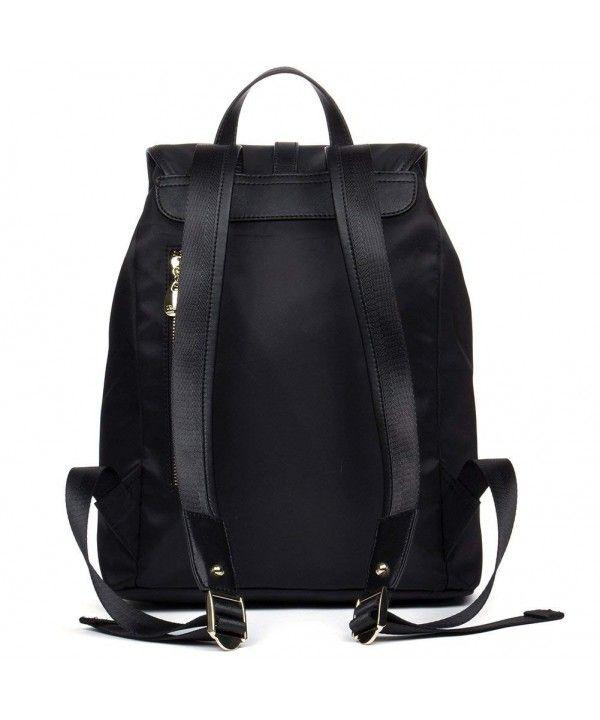 e058ef713d Women Backpack Purses Water Resistant School Backpacks Nylon Light Weight Travel  Bags - 1-black