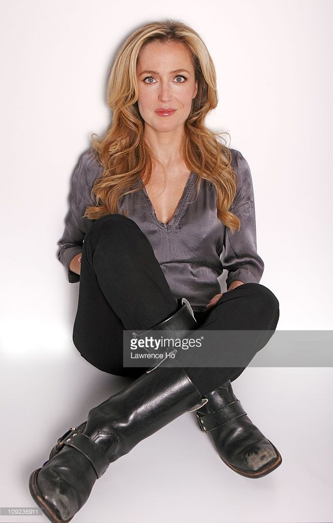 Photo d'actualité : Actress Gillian Anderson is photographed for Los...