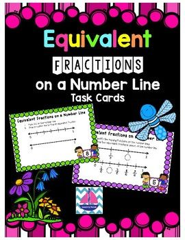 Use these quick task cards as a way to practice the skill of locating a fraction on a number line and using number lines to discover equivalent fractions.I hope that this activity helps your students practice and build their confidence in this method of finding equivalent fractions.