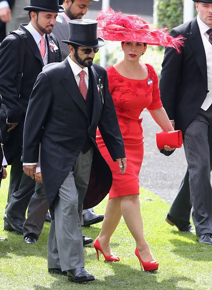 Sheikh Mohammed Bin Rashid Al Maktoum, and Princess Haya bint Al Hussein attend the third day of Royal Ascot at Ascot Racecourse on June 15, 2016 in Ascot, England.