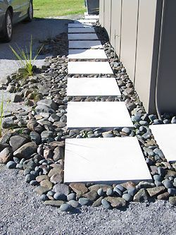 drainage control - a path through a rain garden, landscaping, pavers, walkway, landscape