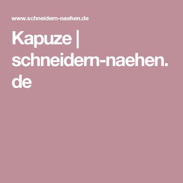 Kapuze | schneidern-naehen.de