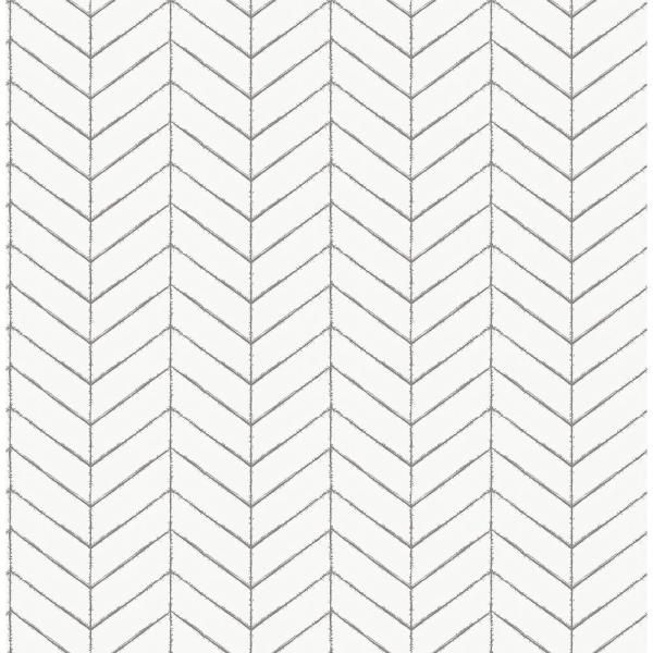 Chesapeake Bison Taupe Herringbone Paper Strippable Roll Covers 56 4 Sq Ft 3118 25097 The Home Depot Herringbone Wallpaper Farmhouse Wallpaper Chevron Wallpaper