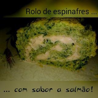 Os petiscos da Gracinha: Rolo de espinafres ... com salmão fumado!
