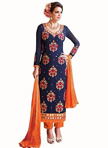 new designer blue orange georgette real mirror partywear ... http://www.amazon.in/dp/B01H3EPOM4/ref=cm_sw_r_pi_dp_zsuyxb00QX9JK