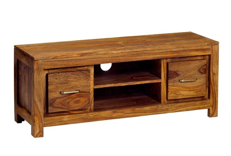 Sheesham Zen Natural Media Unit Solid wood