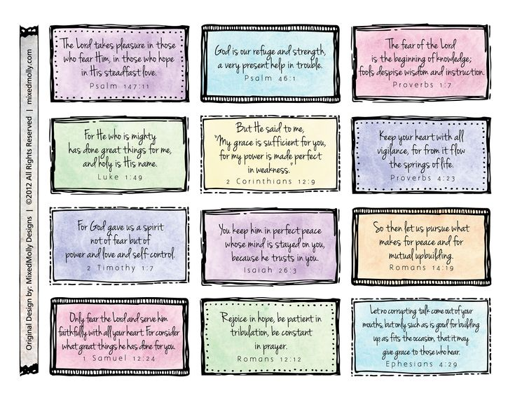 bibleverse1.jpg 3,300×2,550 pixels Printable bible verse memory cards...in pretty colours too