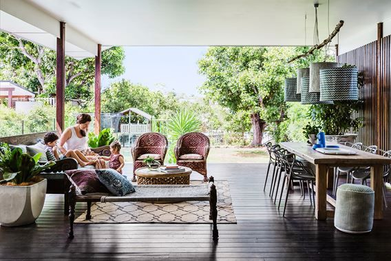 Beautiful deck - Lori and Sanjay's relaxed Queenslander.