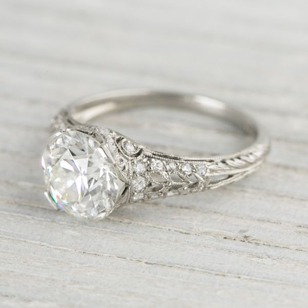 2 04 Carat Vintage Tiffany & Co Diamond Engagement Ring