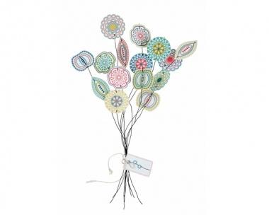 Bastelset für bunte Papierblumen von Jurianne Matter. Blumen die nie verblühen.