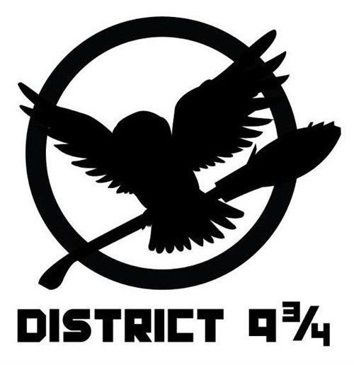 harry potter + hunger games: Books, The Hunger Games, 3 4, Harrypotter, Funny, Hungergames, Harry Potter, District, Fandom