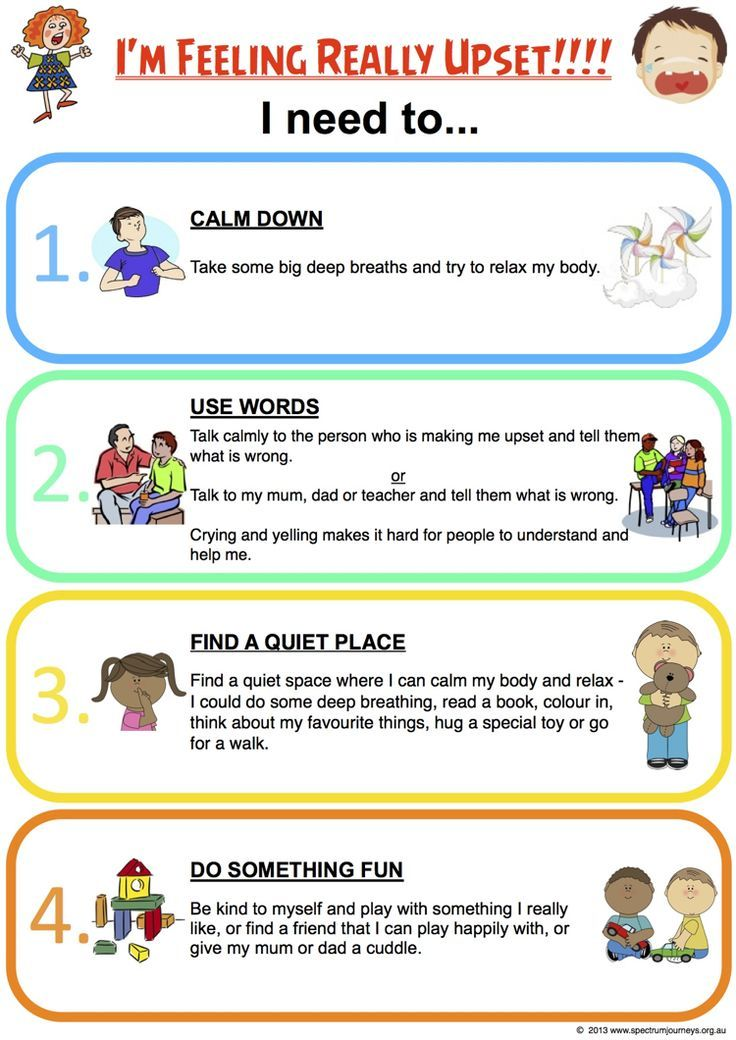 I Am Feeling Really Upset. Routine charts encourage children to develop…