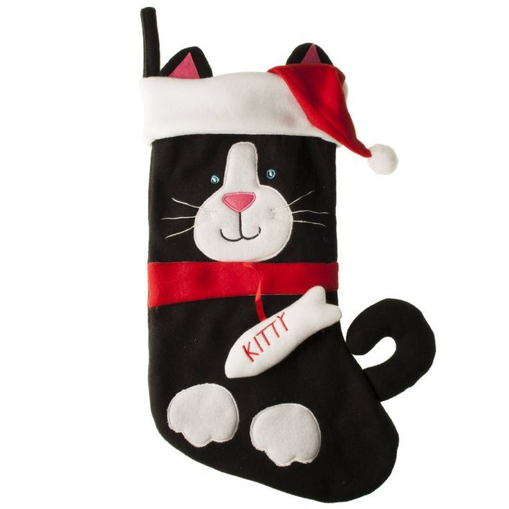 cat christmas stocking by the christmas home | http://notonthehighstreet.com