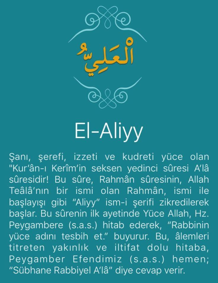 """Şanı, şerefi, izzeti ve kudreti yüce olan """"Kur'ân-ı Kerîm'in seksen yedinci sûresi A'lâ sûresidir! Bu sûre, Rahmân sûresinin, Allah Teâlâ'nın bir ismi olan Rahmân, ismi ile başlayışı gibi """"Aliyy"""" ism-i şerifi zikredilerek başlar. Bu sûrenin ilk ayetinde Yüce Allah, Hz. Peygambere (s.a.s.) hitab ederek, """"Rabbinin yüce adını tesbih et."""" buyurur. Bu, âlemleri titreten yakınlık ve iltifat dolu hitaba, Peygamber Efendimiz (s.a.s.) hemen; """"Sübhane Rabbiyel A'lâ"""" diye cevap verir.   """"Göklerde ve…"""
