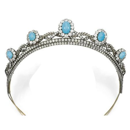 Turqoise and diamond tiara - 1880's