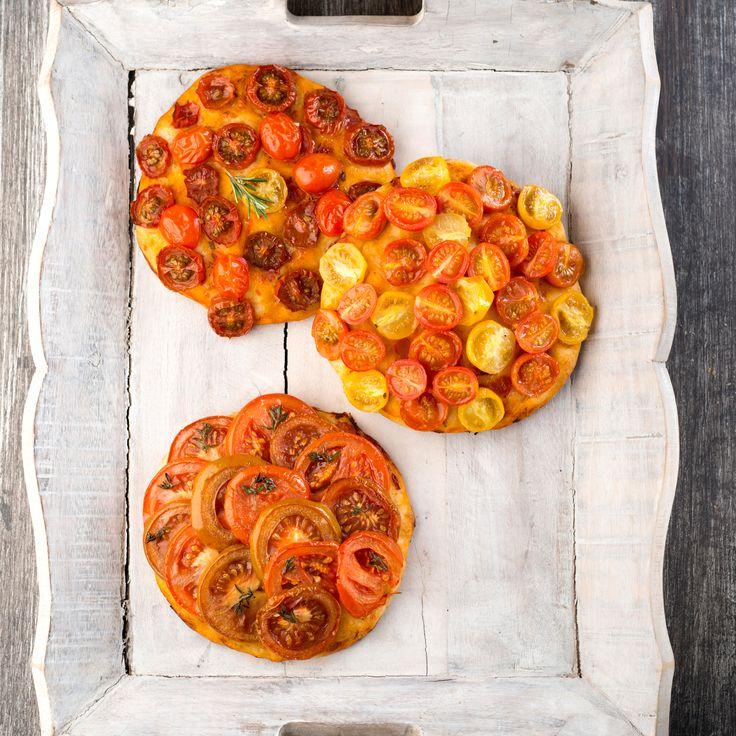 Mini pizza avec les « mini » tomates