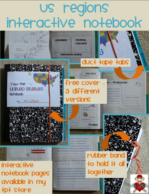 US Regions Interactive Notebook Bundle for the Northeast, Southeast, Midwest, Southwest, and West Regions of the United States. Also available to buy as individual regions. $
