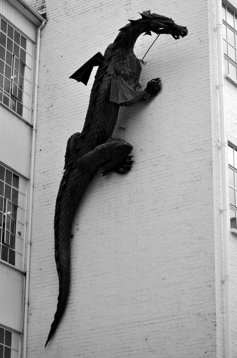 Caymanmamma Watercolour Artist    The Dragon at the Custard Factory,Digbeth-Birmingham, UK