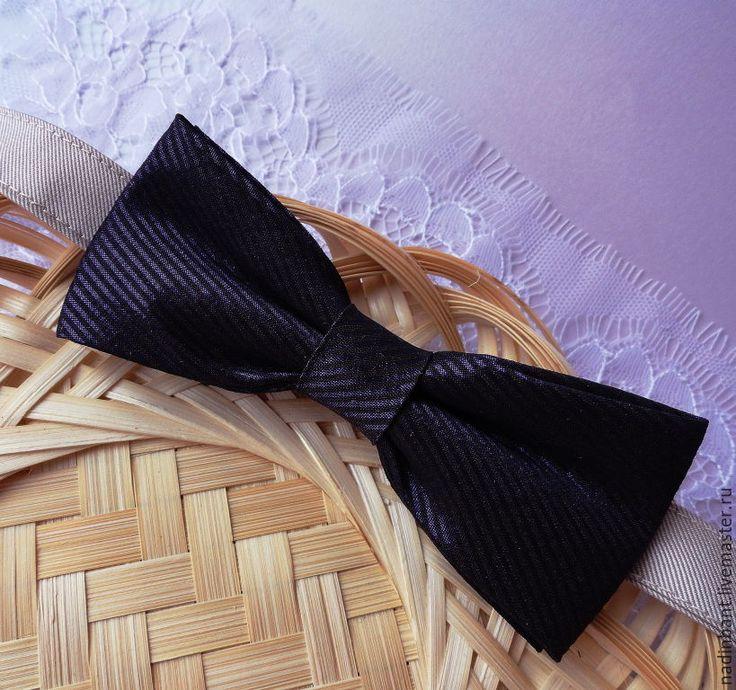 """Купить Галстук бабочка """"Dream"""" - темно-фиолетовый, в полоску, галстук бабочка, галстук-бабочка"""