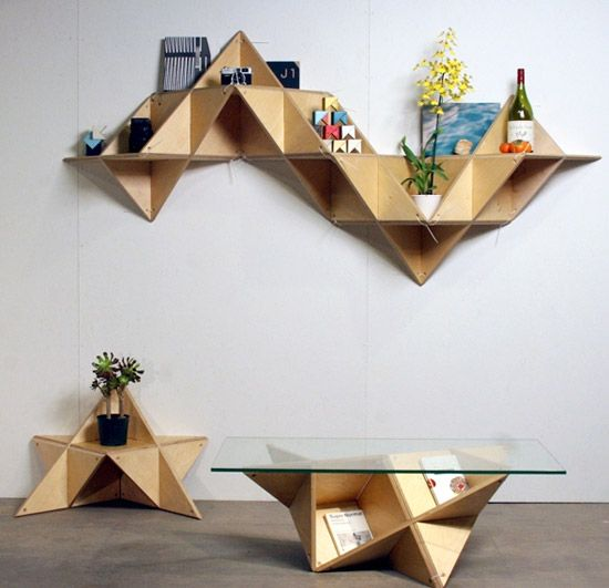 Triangle Shelving System... WANT.