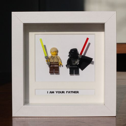 Star Wars Lego Mini Figures Darth & Luke Framed - 'I Am Your Father'