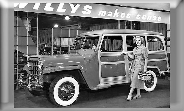 1951 Willys wagon at Chicago Auto Show