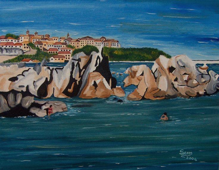 Calabria - Olio su tela - cm. 40 x 50 - Anno: 2004