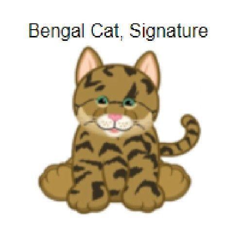 Webkinz Signature Bengal Cat (**signature**) Code Only (email