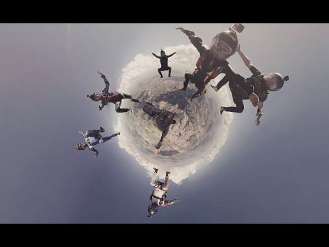 Skydiving 360 VR in Brazil / Salto de Paraquedas em video 360º - VR Obui...