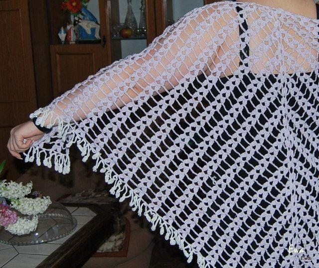 szydełkowa chusta