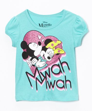 Love this Green Minnie Kisses Tee - Toddler by Minnie Mouse on #zulily! #zulilyfinds