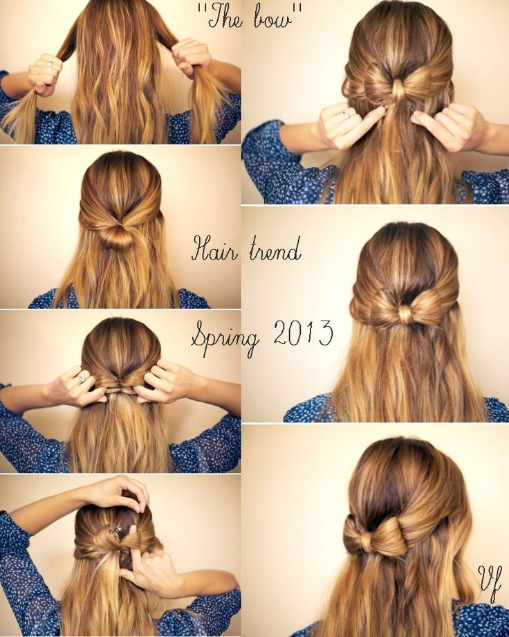 Acconciature - hairstyle - bow http://visualfashionist.blogspot.it/2013/03/acconciature-semplici-per-la-primavera.html
