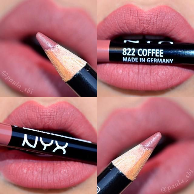 Don't forget your lip liner tonight! Here's a swatch of our Slim Lip Pencil in 'Coffee' by @PaulaSbi!